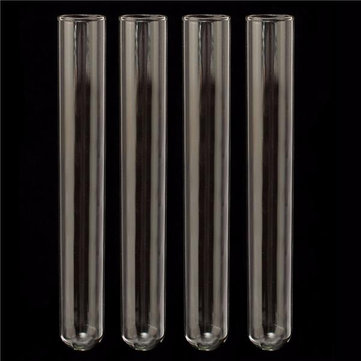 4pcs 150mm Pyrex Glass Blowing Tubes 1mm Thick Lab Test Tube