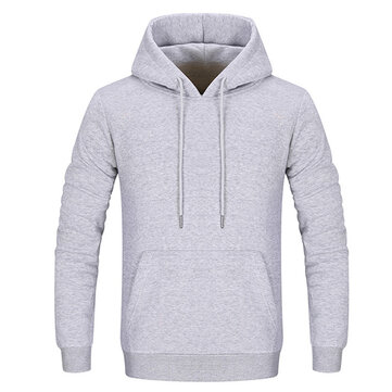 Men's Casual Solid Color Cotton Hoodies Sweatshirts