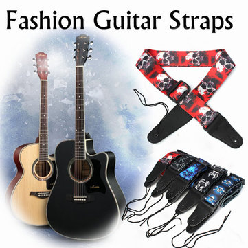 Guitar Strap Polyester Belt Electric Acoustic Bass Skull Punk Style