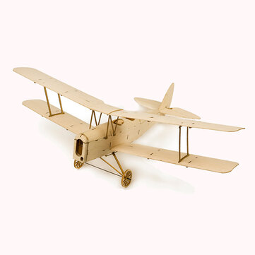 Tiger Moth K10 400mm Wingspan Micro RC Balsa Wood Laser Cut RC Airplane Building Kit