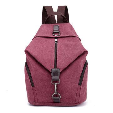 KVKY Women Canvas Backpack Large Capacity Minimalist Fashion Travel Bag School Bag