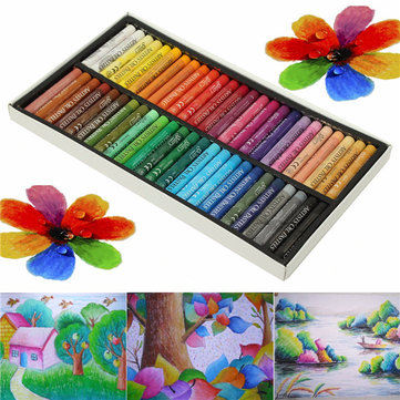50 Colors Crayon Non-toxic Oil Pastels Drawing Pens Artists Mechanical Drawing Paint