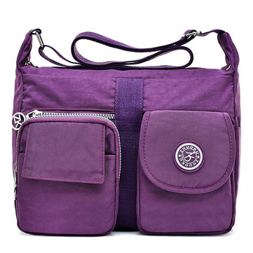 Women Nylon Waterproof Casual Crossbody Bag Shoulder Bag