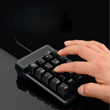 USB Wired 19Keys Numeric Keypad Mini Suspension Number Pad Keyboard for Laptop PC