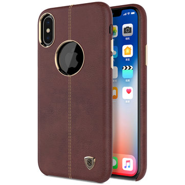 NILLKIN Crazy Horse Grain Leather Hard PC Case Cover for iPhone X