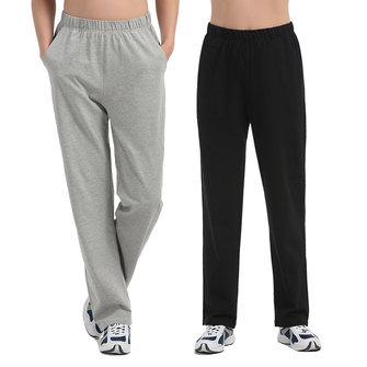 Men's Summer Breathable Cotton Casual Homedress Pants Large Size Solid Color High Rise Sweatpants