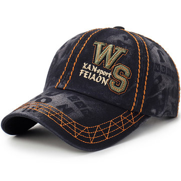 Men Women Washed Denim Baseball Cap Sunshade Trucker Hat