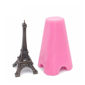 3D Tower Silicone Mold Fondant Cake Soap Mould Creative Kitchen Baking Tools