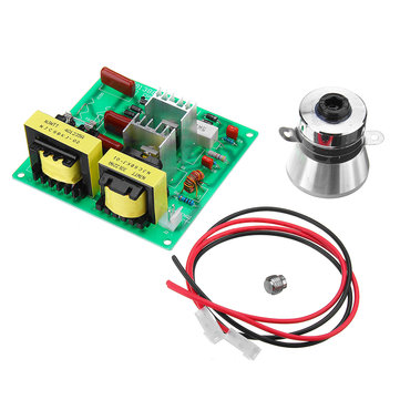 AC 220V 100W Ultrasonic Cleaner Driver Power Board With 1Pc 50W 40K Transducer Square
