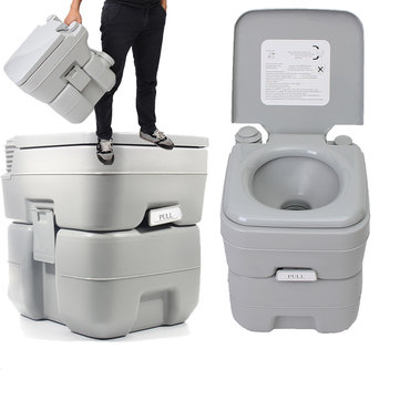 20L Portable Toilet Outdoor Camping Potties W Closestool Hiking Travel Emergency
