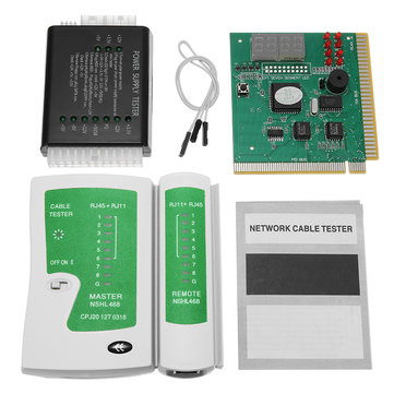 PC Network Test Kit Carte mère POST Analyzer Ordinateur Alimentation Réseau Câble Testeur