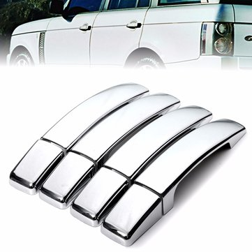 8 Pcs ABS Chrome Door Handle Covers for Range Rover Sport Found 3/4 Freelander 2