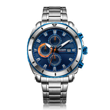 MEGIR 2075 Business Chronograph Luminous Quartz Watch