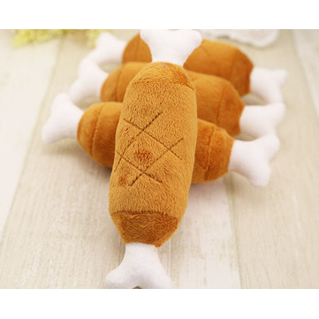 Velvet Pet Dog Cat Chicken Legs Plush Toys Interactive Sound Toys Peluche Dog Accessories Pet Toys