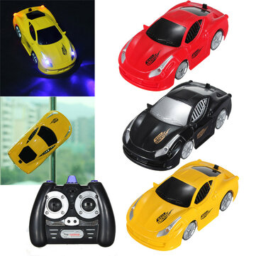 1PC LH-1208 1/32 Infrared Control 4CH Rc Car Floor Climbing Wall Climber With LED Light Toy