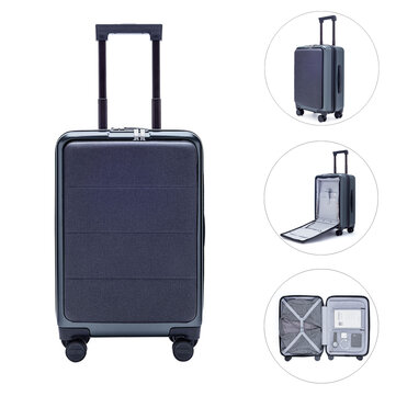 Xiaomi 90FUN 20inch Business Travel Suitcase 36L TSA Lock Spinner Wheel Carry On Luggage Case
