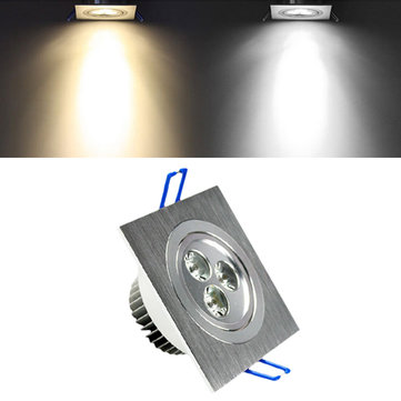 LED 3W White/Warm White Square Recessed Ceiling Light Restaurant Down Bulb Spot Lamp AC85-265V