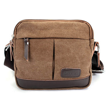 Men Casual Retro Canvas Shoulder Handbag Messenger Crossbody Bag