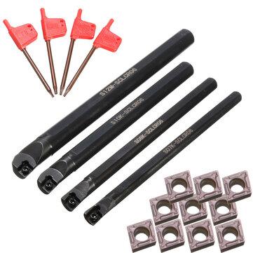 4pcs 7/8/10 / 12mm SCLCR06 Tono aburrido barra girando herramienta con 10 unids CCMT0602 inserciones