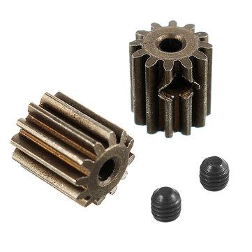 HBX 12891 1/12 Motor Pinion Gears 12T + Set Screws 3*3mm(2P)-Brushed 12060 RC Car Parts