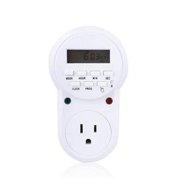 ช่องเสียบตัวจับเวลาประหยัดพลังงานอิเล็กทรอนิกส์แบบดิจิตอลโปรแกรม US Plug