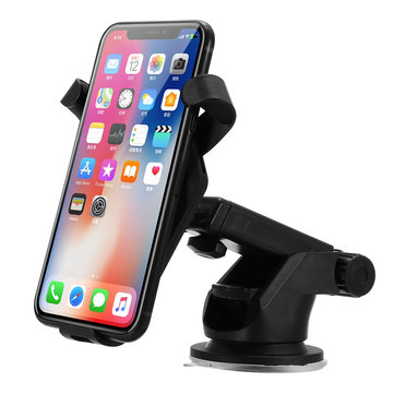 Supporto caricabatterie per cruscotto senza fili per auto parabrezza per iPhone 8/Plus / X Samsung S8 Apple Watch