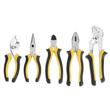 5Pcs Mini Diagonal Nose Pliers Soft Handle Tool Kit Jewelry Beading Wire Cutter