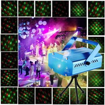 Blue Mini Laser Light Twenty Christmas Light Decor Snowflake Christmas Tree Santa Claus Crutche