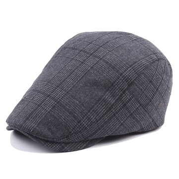 Grille de coton ajustable Grille Beret Hommes Femmes Outdoor Sports Plaid Sun Proof Forward Peaked Cap