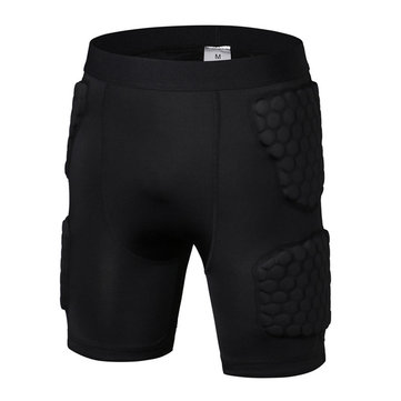 Mens Honeycomb Anti-collision Sports Gym Training Quick-drying Elastic Skinny Shorts