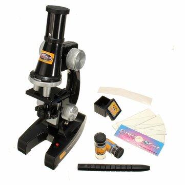 Microscopio experimento científico creado eductional ciencia suministros ópticos juguete laboratorio