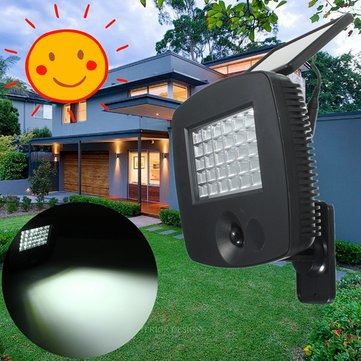 30LED Solar PIR Motion Sensor Light Outdoor Garden Path Security Lighting Lamp
