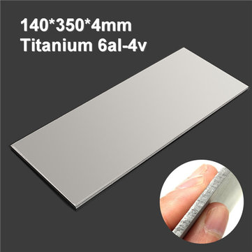 350x140x4mm Titanium 6al-4v Sheet Titanium Ti Sheet Plate Gr.5 Metal
