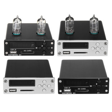 PJ.MIAOLAI M5 6J1 Vacuum Tube Pre-Amplifier USB DAC Stereo HiFi Buffer Music Player