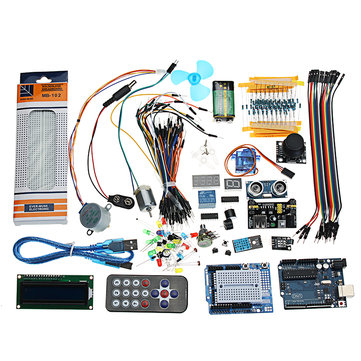 UNO R3 Super Starter Kit LCD1602 Breadboard Power Supply Board Buzzer For Arduino