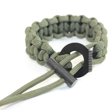 IPRee® Outdoor EDC Survival Bracelet Paracord Flintstone Emergency Safety Tool Kits