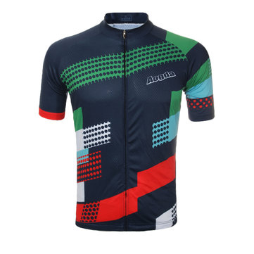 Unisex Summer Cycling Short Sleeve Bicycle Jersey Polyester Material Breathable Wicking Quick Dry