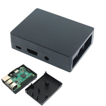 Aluminum Black Case Metal Enclosure No Need HeatSink Fan For Raspberry Pi Model B/B+/PI2/PI3