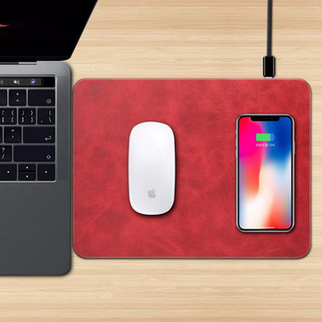 Bakeey Qi Wireless Charger Mouse Pad for iPhone X 8 8Plus Samsung S8 Plus Note 8