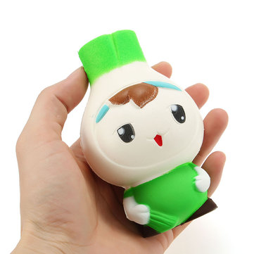 Squishy Scallion Man 12cm Leuke Kawaii Slow Rising Collectie Gift Decof Soft Squeeze Toy