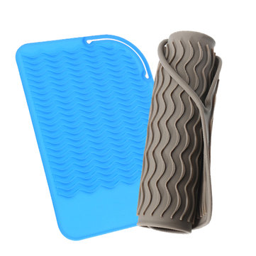 Silicone Heat Resistant Mat Anti-heat Pad With Wave Lines For Flat Iron Straightener Perm Curling Tr