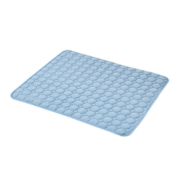 Pets Cooling Fabric Ice Silk Mat Non-Toxic Cool Gel Pad Bed Indoor Summer Chilly Floor