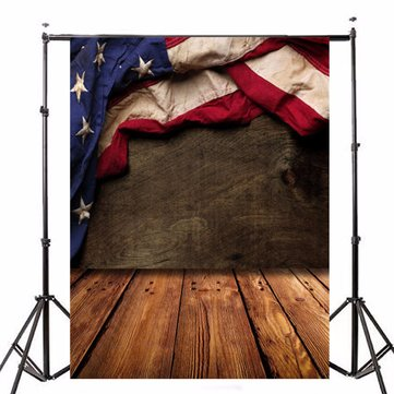 5x7ft Wood American Flag Vinyl Background Backdrop Photography Photo Props
