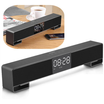 Ifkoo F4 LED Alarm Clock FM Radio Touch Control TF Card 3.5mm Aux Bluetooth Speaker with Mic