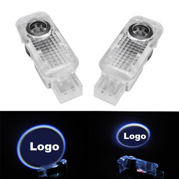 Pair 5W LED Door Welcome Emblems Light With Car Logo for Audi Special