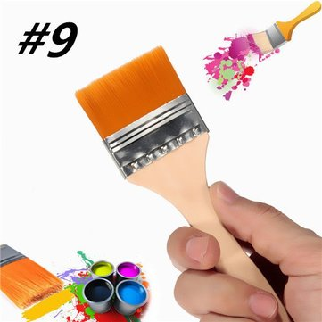 Number 9 Nylon Paint Brush Artists Acrylic Oil Paint Varnish Brushes Painting