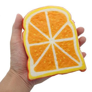 SquishyShop Orange Bread Toast Slice Squishy 14cm Soft Slow Rising Collection Gift Decor Toy