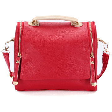 Women PU Vintage Crossbody Bags Crown Retro Shoulder Bags