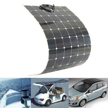 200W 18V Yarı Esnek Solar Panel Batarya Şarj Bot Karavan Motor Ev