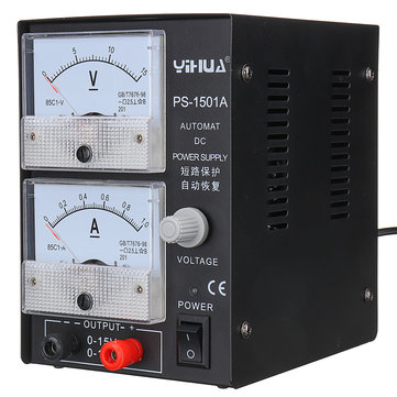 YIHUA 1501A 15V 1A Adjustable DC Power Supply Mobile Phone Repair Power Test Regulated Power Supply
